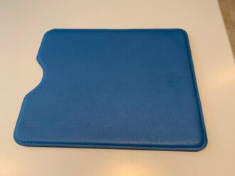 Hermes mini Ipad cover in calf skin blue Thalassa-1