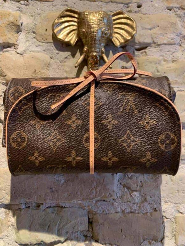 LV travel jewelery soft case with suede inside-1