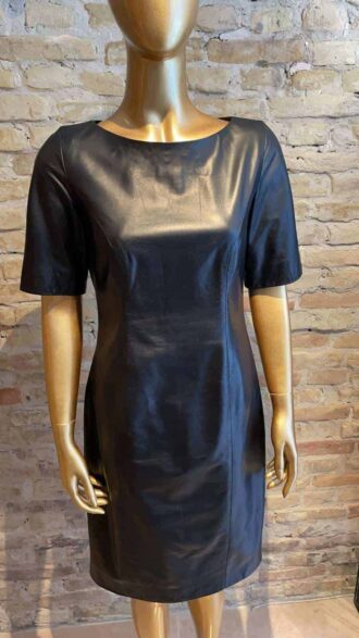 Leather Coture dress - hand sewed from Hanne Harnov