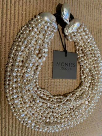 Monies one off necklace in freshwater and baroque pearls