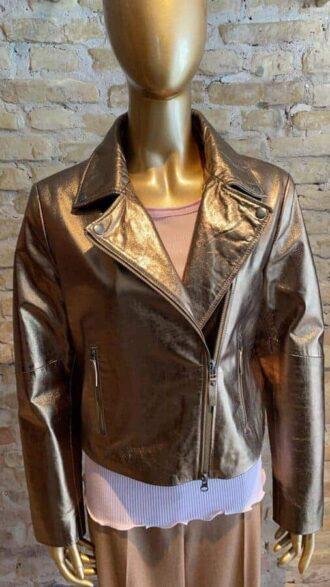 Seventy Gold leather Jacket