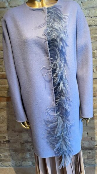 Seventy Light coat with feather detail