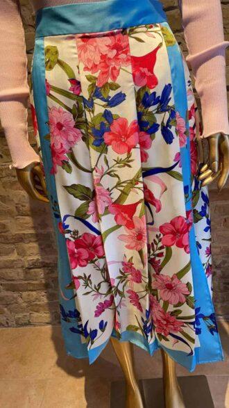 Seventy Pleated flower printed skirt