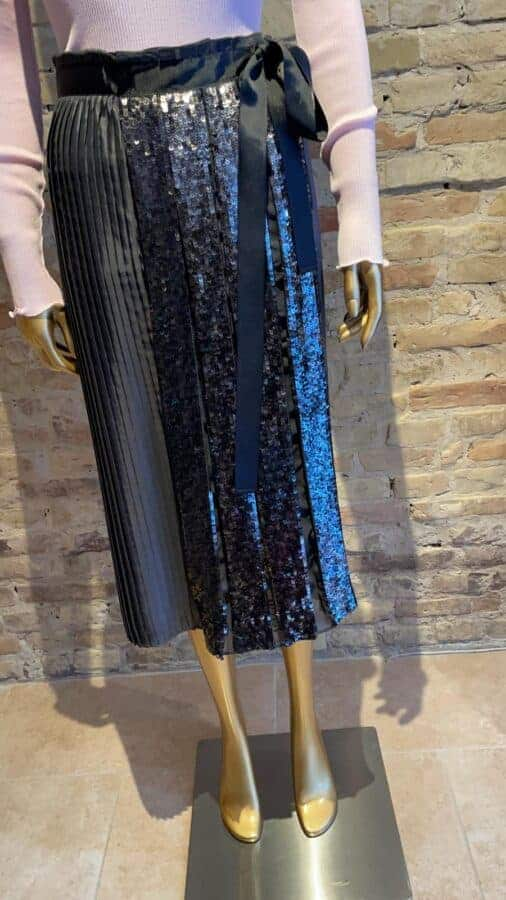 Seventy Pleated skirt with sequin detail