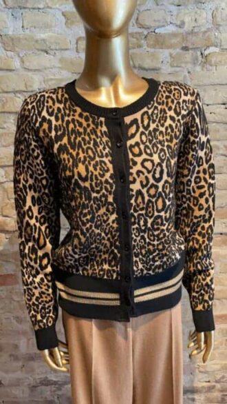 Seventy leopard printed cardigan
