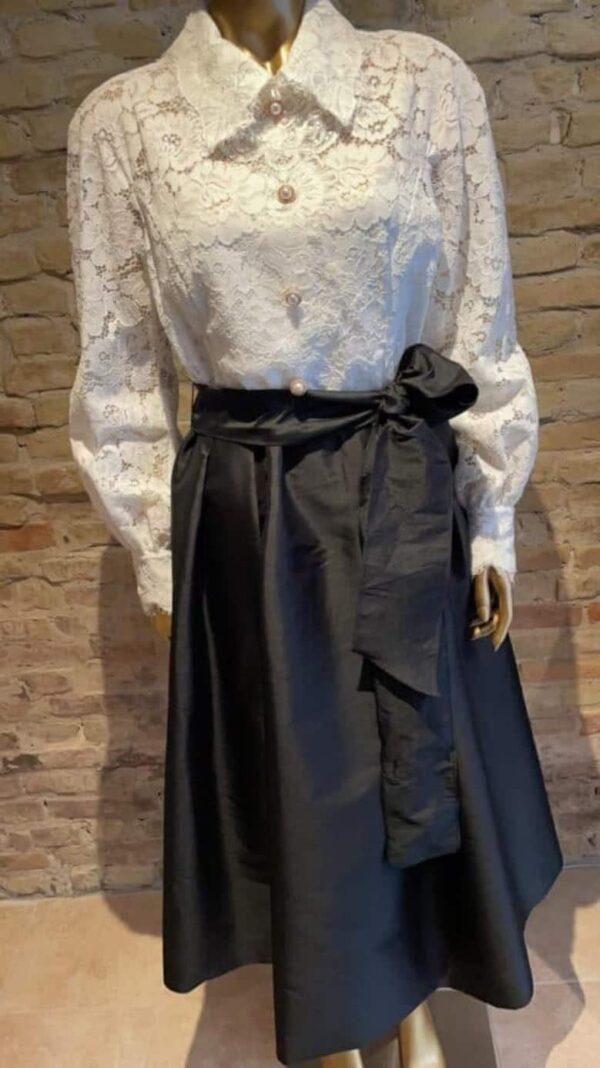 Teri-Jon-Black-and-White-lace-evening-dress-rock-vintage