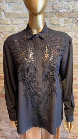 Vintage Roberto Cavali blouse with pearl detail