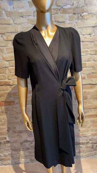 Vintage Sonia Rykiel - Black wrap dress