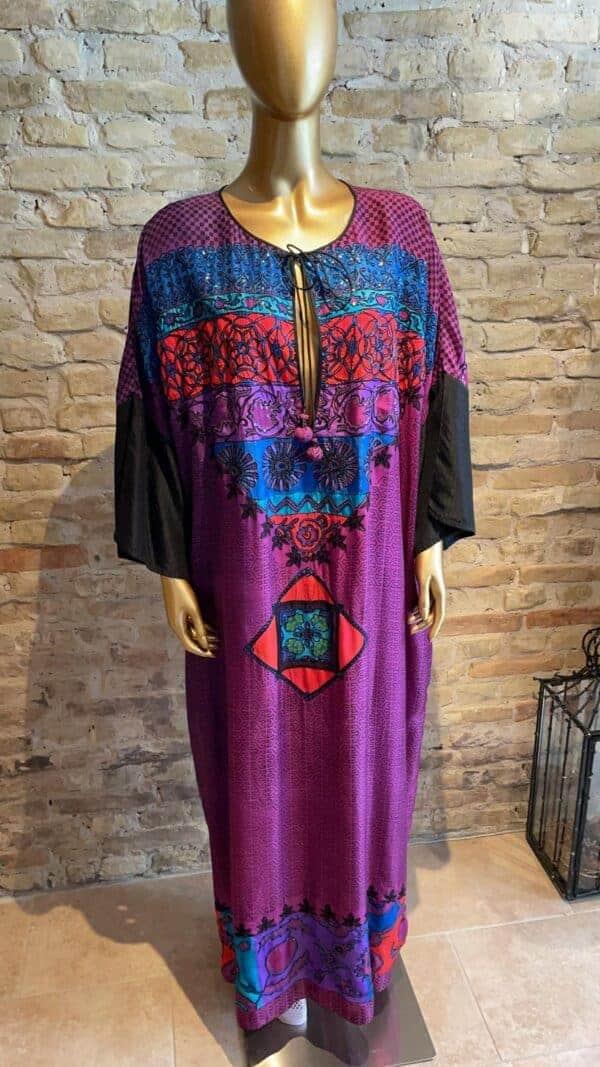 kaftan - 100% silk with sequin detail