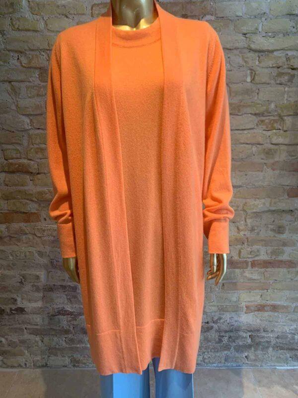 Anna Purna long cardigan in orange