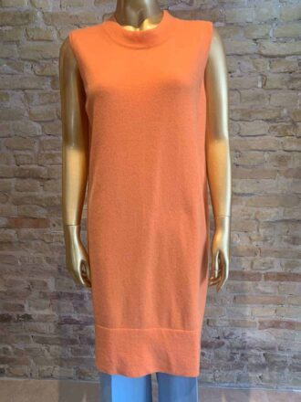 Anna Purna sleeveless long tunic in orange