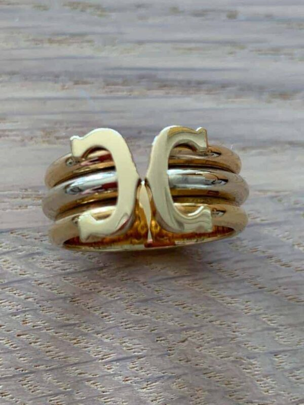 Cartier 3 colored gold ring ( white-yellow-rose )