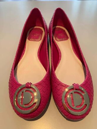 Christian Dior ballerina in pink leather