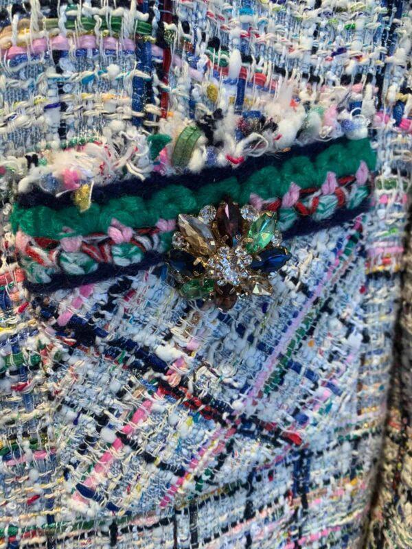 Edward Achour Paris long tweed jacket