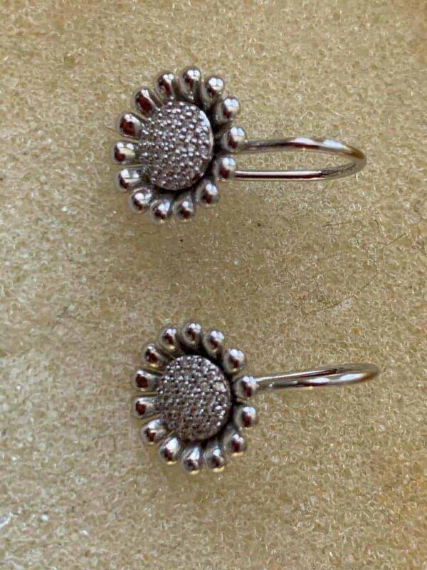 Georg Jensen earrings in silver and diamonds