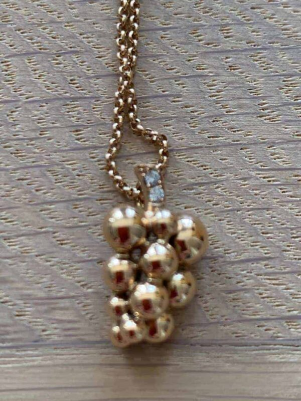 Georg Jensen grape necklace in rose gold and diamonds