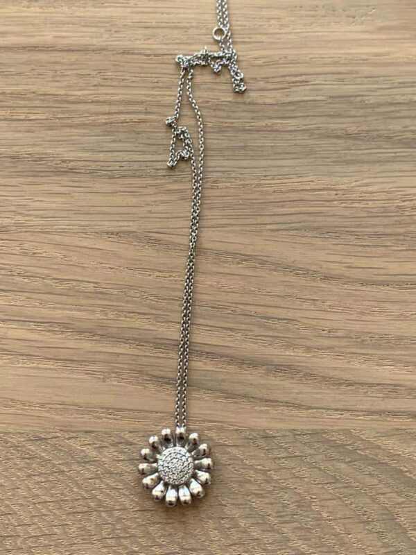 Georg Jensen necklace in silver and diamonds