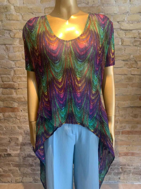 Issey Miyake T-shirt in color mix