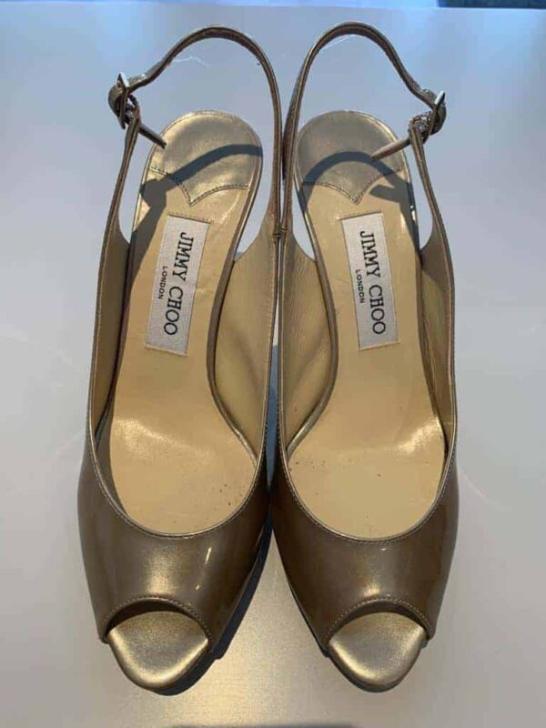 Jimmy Choo high heel in gold shiny leather