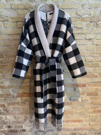 Long reversible check jacket from Seventy