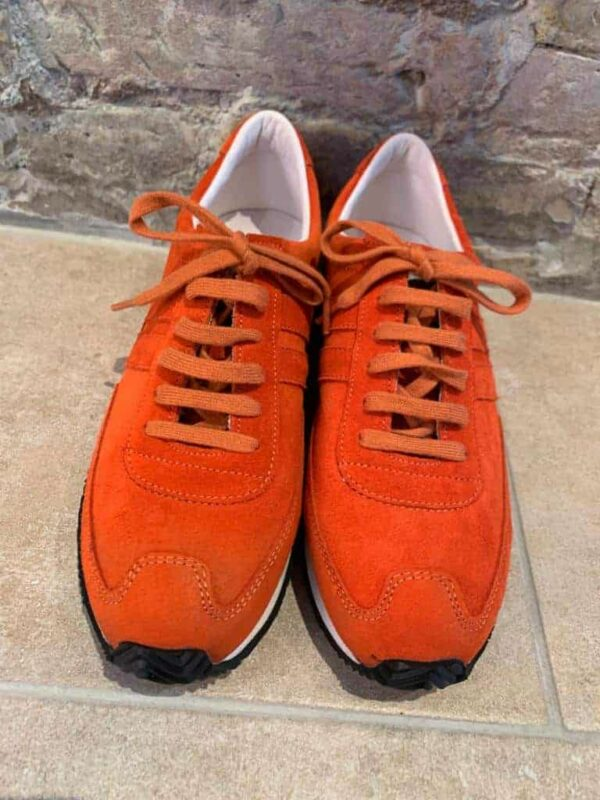 Ludwig Reiter trainers in orange suede new