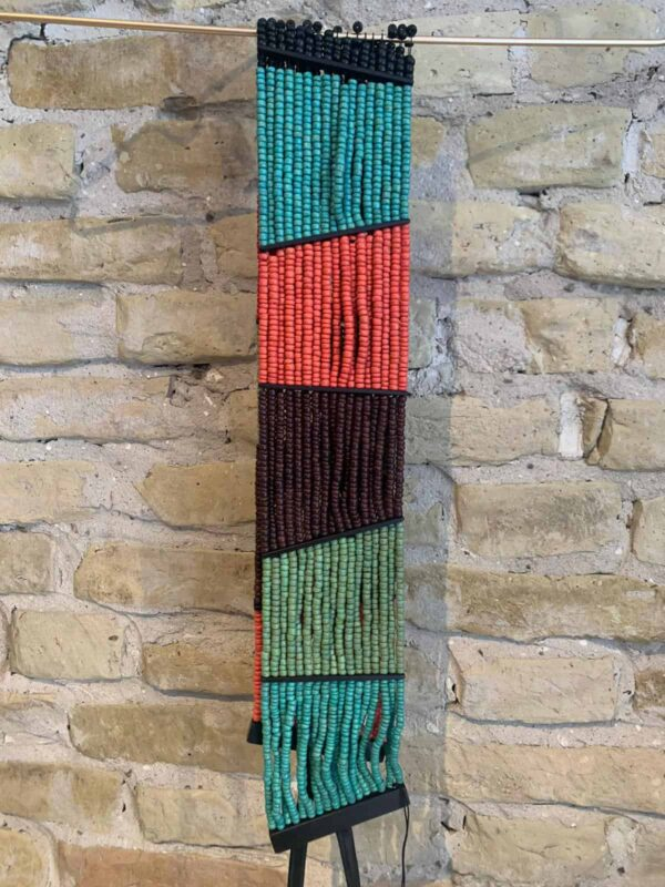 Monies pearl tie belt in multi color