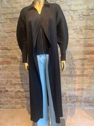 Pleats Please long cardigan