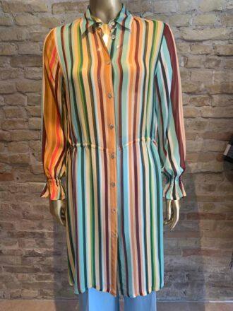Seventy striped chiffon shirt