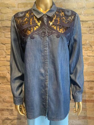 The Kooples denim shirt with details