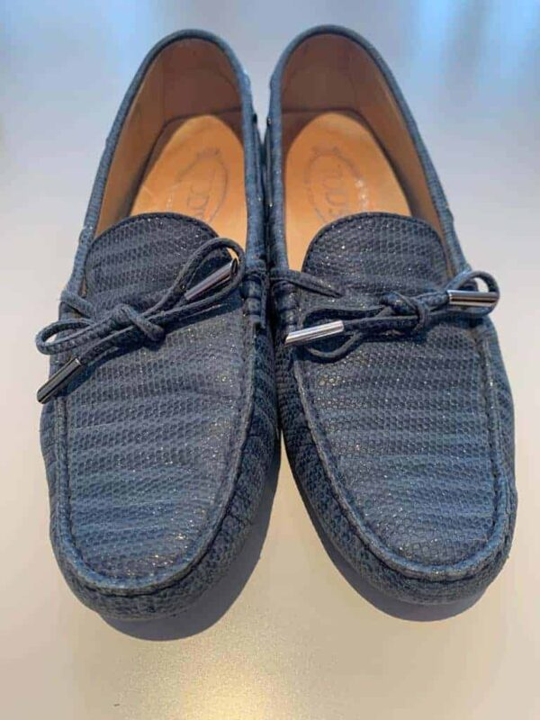 Tod's pump in blue leather