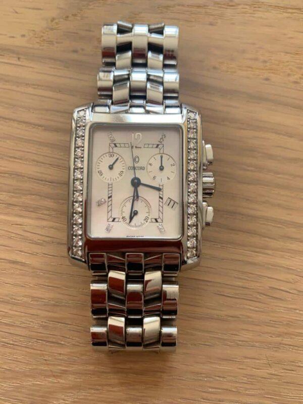 Concord Sportivo Chronograf watch with diamonds