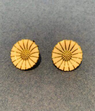 Georg Jensen Daisy earrings in gold plated silver