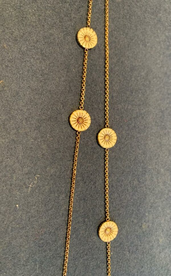 Georg Jensen Daisy necklace in gold plated silver - rock vintage