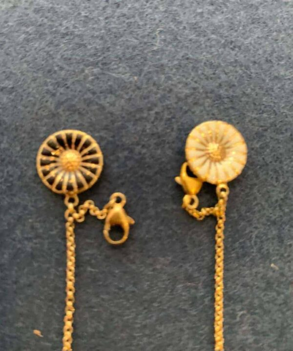 Georg Jensen small Daisy bracelet in yellow gold