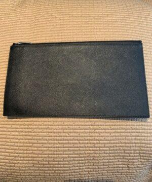 Black large zip wallet for travel
