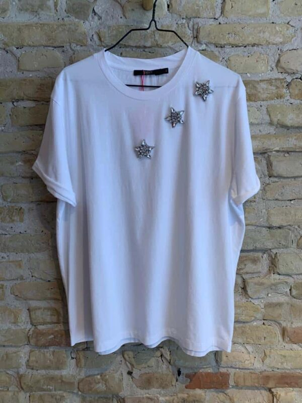 White T shirt from seventy with crystal stars